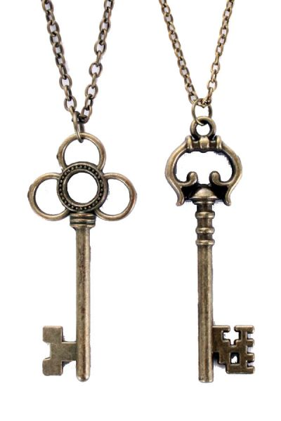 Steampunk Halskette mit 2 Schlüsseln