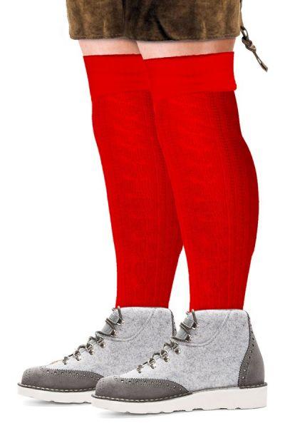 Oktoberfest Tiroler Socken lang rot