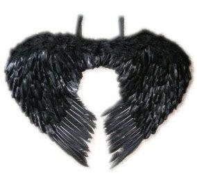 Engelsflügeln schwarz