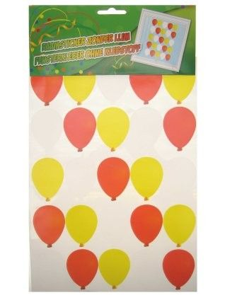 Fensteraufkleber Luftballons rot weiß gelb