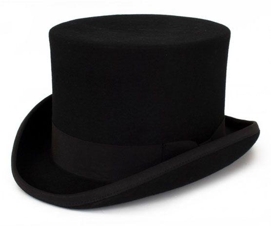 Schwarzer Zylinder Hut