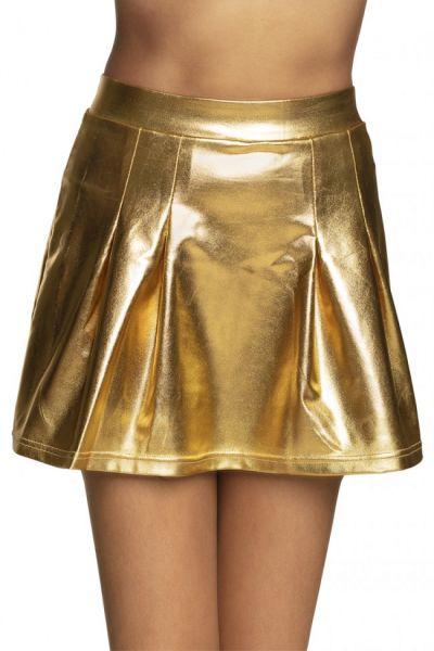 Minirock Glänzendes Gold