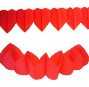 Girlande von rote Herzen 36m