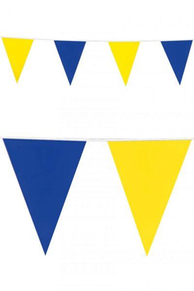 Flaggenlinie blau gelb Wimpelkette