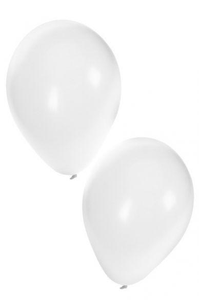 Weiße Heliumballons