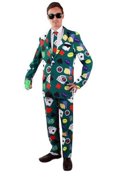 Lustige Poker Face Kostüm