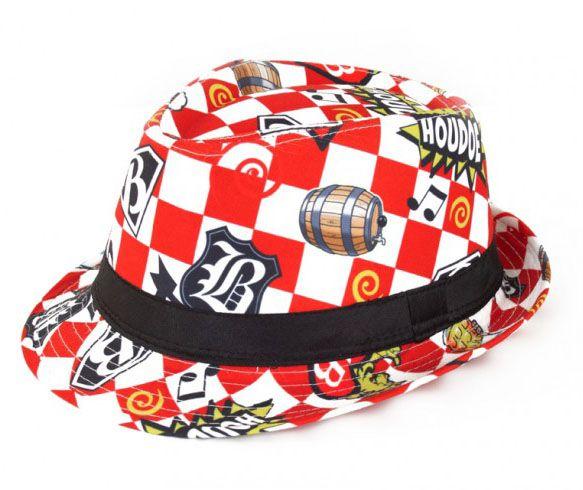 Kojak Hut rot weiß kariert Houdoe