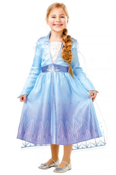 Mädchenkleid von Elsa aus dem Blockbuster Frozen 2