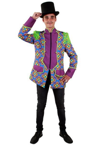 Bunte Flower Power Herrenjacke