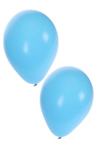 Hellblaue Heliumballons