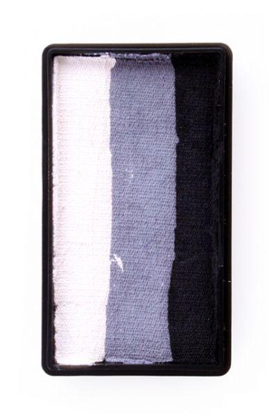 One Stroke Split Cake Schminkfarben schwarz grau weiß PartyXplosion