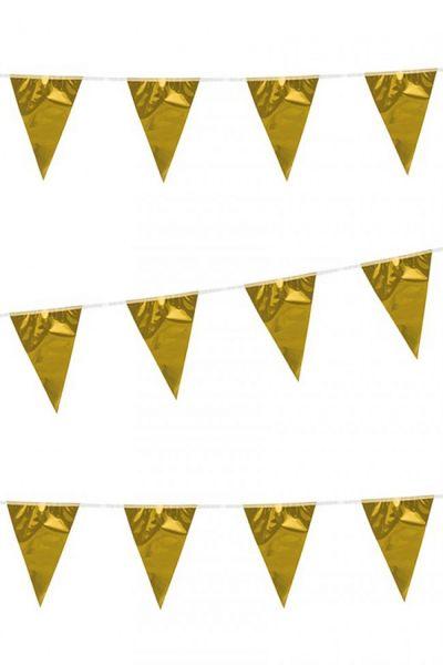 Flaggenlinie Metallic Gold 120m