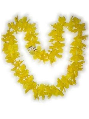 Hawaii Blüten gelb Halskette Kränze 12 Stück