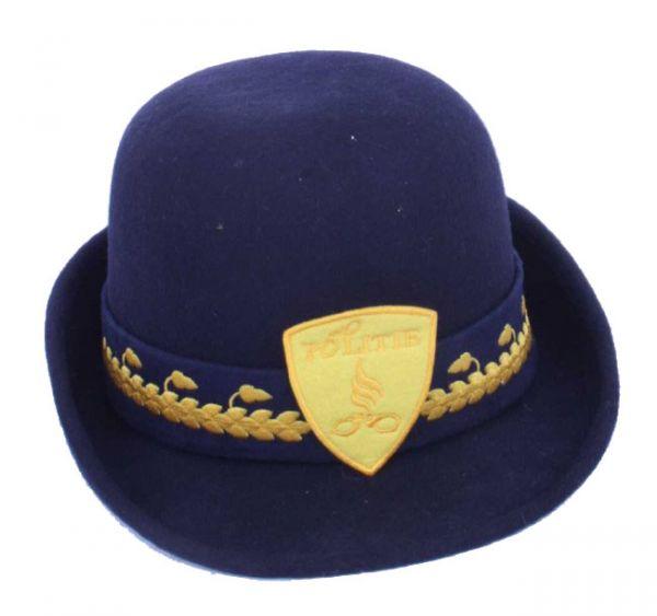 Damen Hut Wollfilz blau Polizei