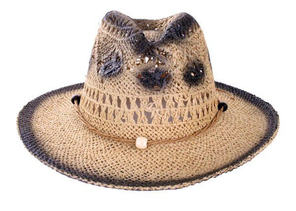 Cowgirl Hut Stroh natürlich