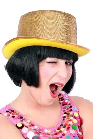 Lurex Gold-Glitter Hut