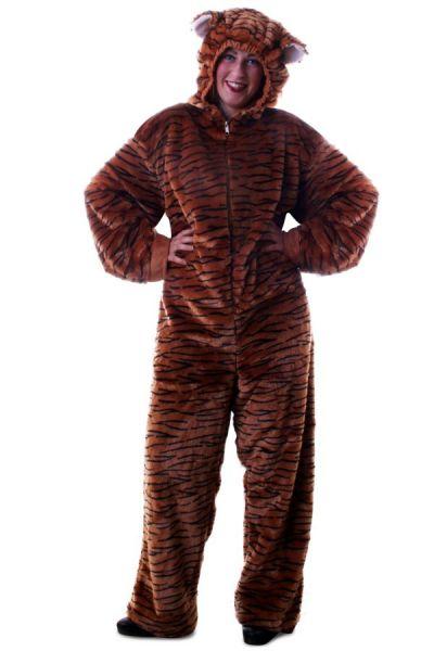 Tierkostüm Tiger Plüsch mit Kapuze