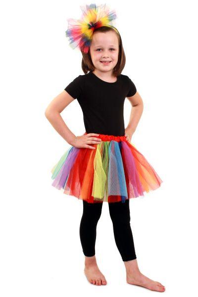 Tüllrock Regenbogen Mädchen