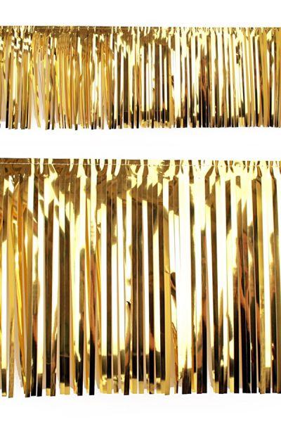 PVC-Foliengirlande gold