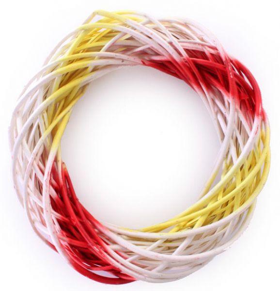 Türkranz rot weiß gelb 39 cm Durchmesser