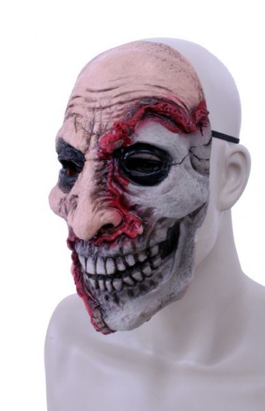 Horror Maske Latex halb tot