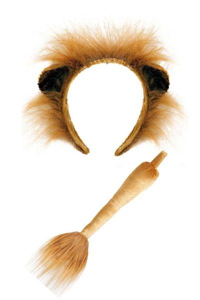 Löwe Haarband mit Schwanz