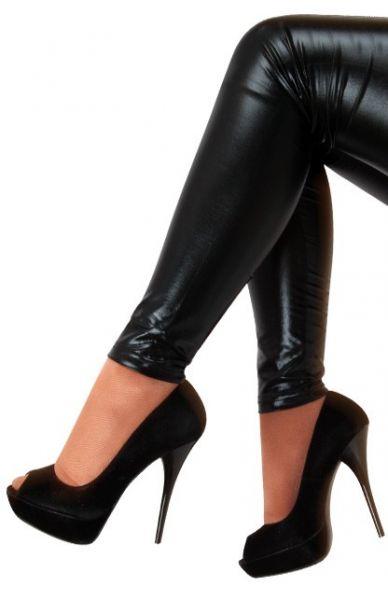 Legging schwarz metallic