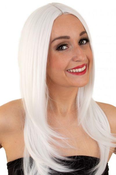 Damen Perücke weiß waschbar