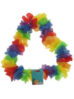 Hawaii Blüten bunte Farben Halskette Kranz 6 Stück