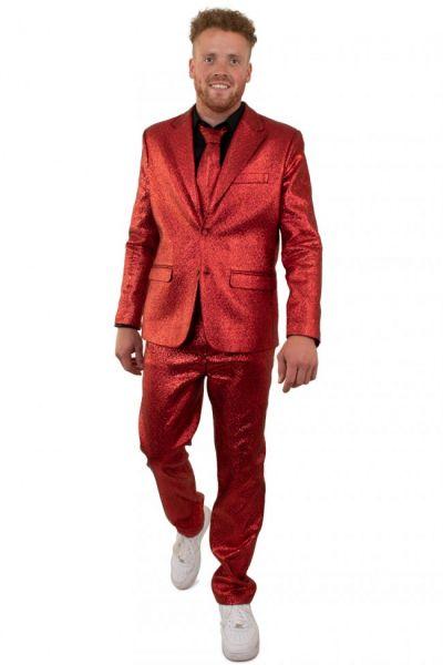 Rotes auffälliges Disco-Kostüm Metallic