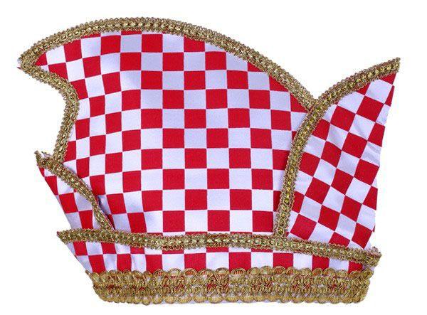 Fürsten Stich Prinzen Köln Hut rot weiß kariert
