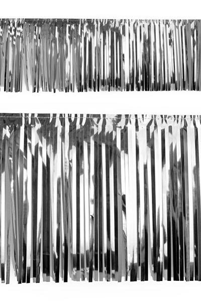 PVC-Foliengirlande Silber