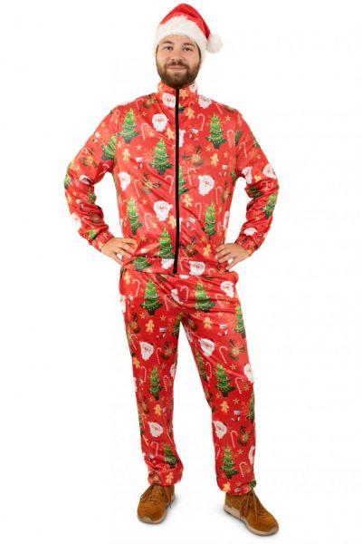 Trainingsanzug Frohe Weihnachten rot