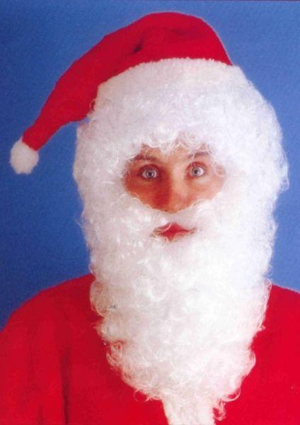 Weihnachtsmann Bart Set weiß