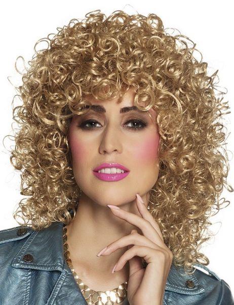 Lockige Perücke Club blond