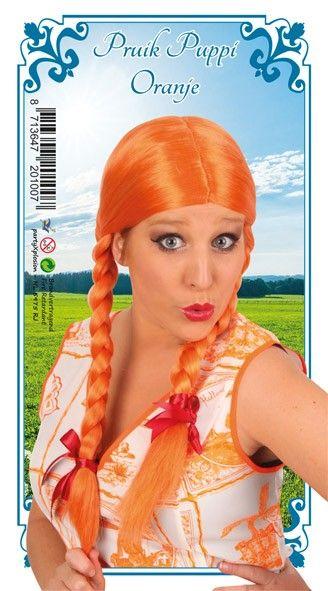 Oktoberfest Dirndl Perücke Orange