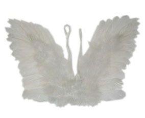 Engel Flügel weißen Federn Kind