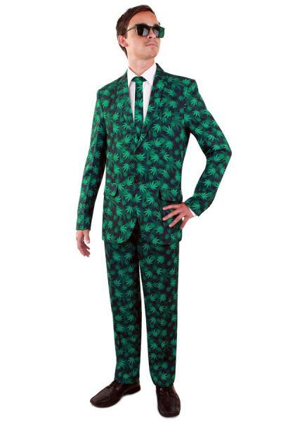 Kostüm Cannabisblatt Anzug Cannabusiness