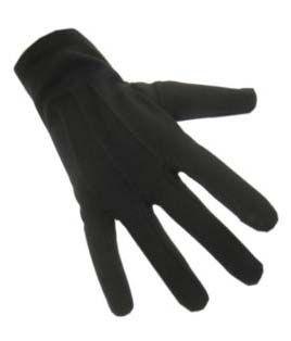 Baumwollhandschuhe Kurz schwarz