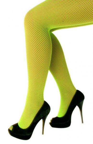 Netzstrumpfhose fluo grün