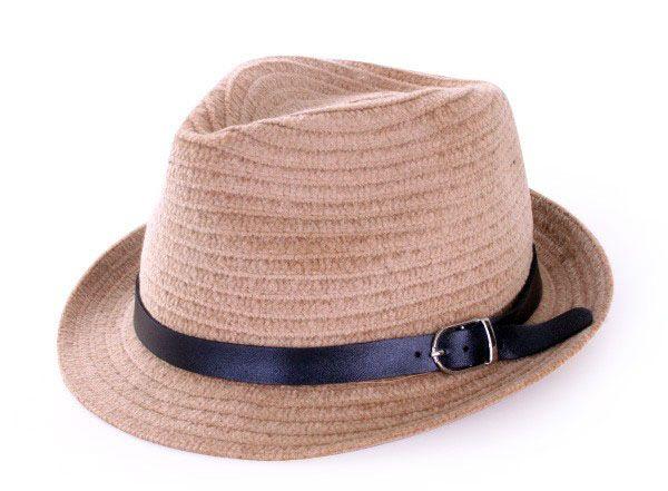 Kojak hellbraun Hut mit schwarzem Band
