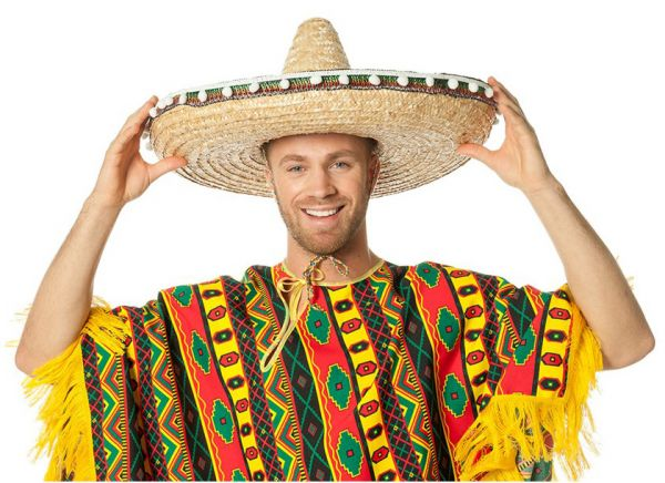 Mexikanischer Sombrero mit Bällen