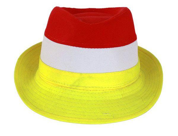 Hut rot weiß gelb
