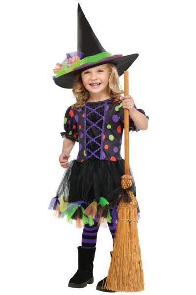 Hexe Polka Dot Witch Mädchen Kleid