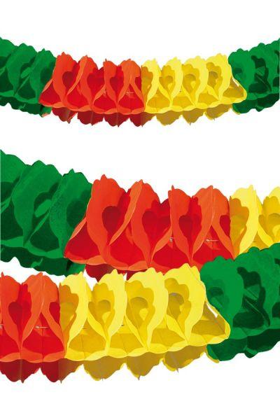 Girlande rot gelb grün Feuerhemmend