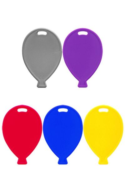 Ballon Gewichten aus Kunststoff verschiedene Farben pro 100