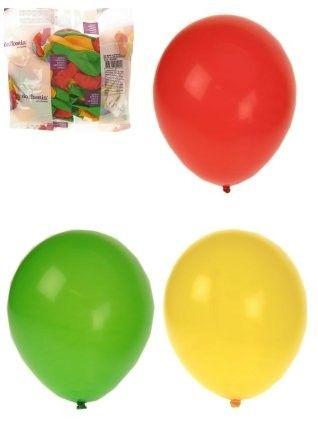 Fasching Heliumballons rot gelb grün