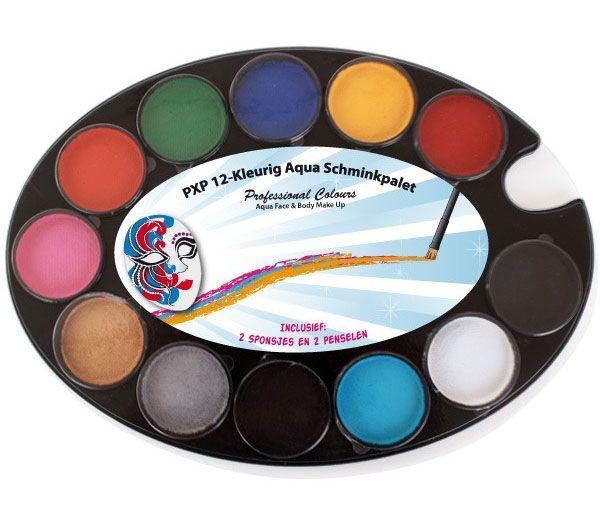 PXP 12-farbige Aqua Schminke Palette