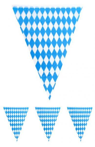 Flaggenlinie Oktoberfest Bayern blau weiß 10m