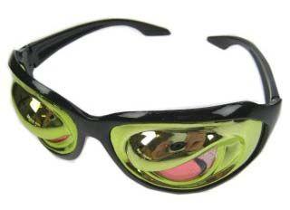 Brille verrückt Zombie Augen metallic
